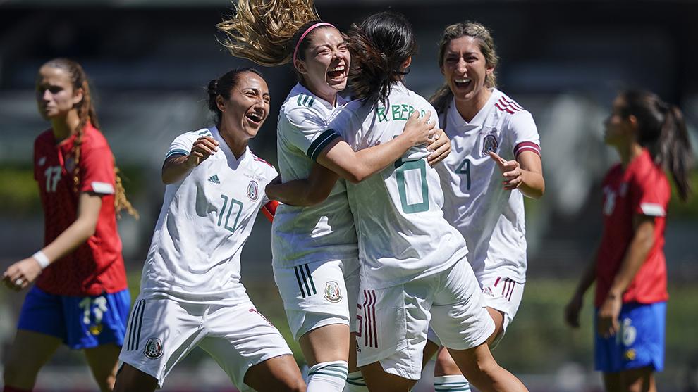 La Femenil de México derrota  a su similar de Costa Rica 3-1
