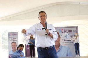 Mauricio Kuri gasta 10 mdp en una semana de campaña