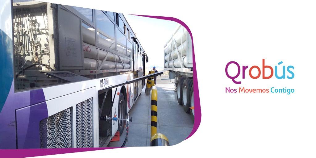 Gas natural, un avance sustentable para el transporte urbano de Querétaro